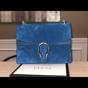 974abe7f27d926 Gucci Bags | Dionysus Large Cobalt Blue Suede Handbag | Poshmark